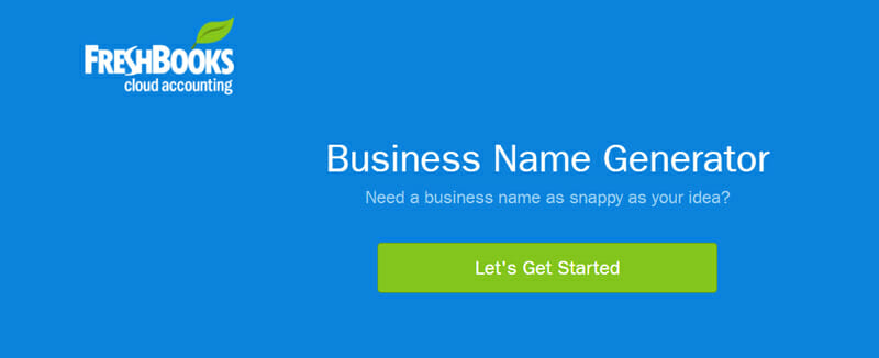 Freshbooks Best business name checker to find a premier company name for your startup.