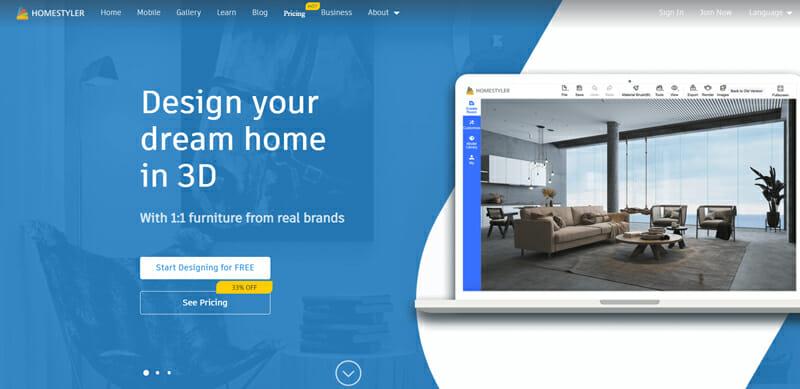HomeStyler The Best 3D Rendering Budget Solution.