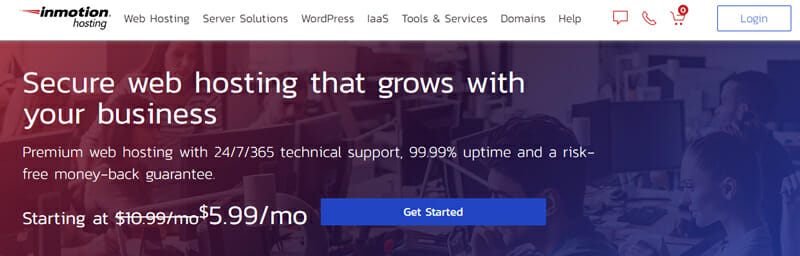 InMotion Hosting Best Bluehost alternative for enterprise and business solutions with tech heavy websites.
