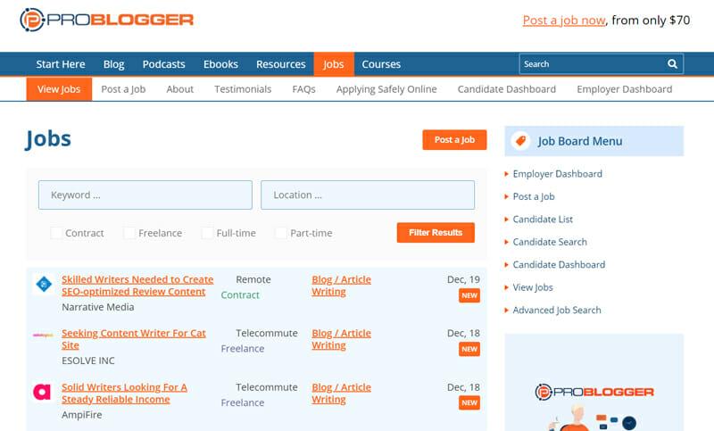 Jobs at Problogger