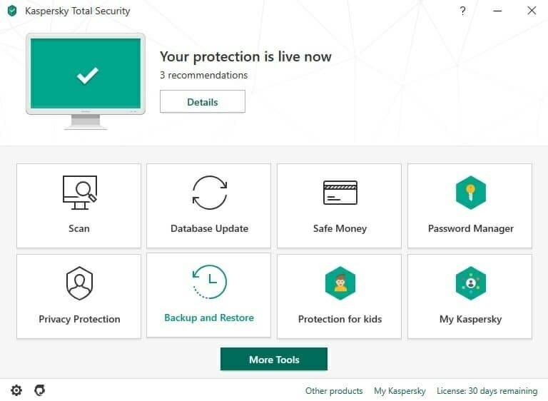 Kaspersky - total security
