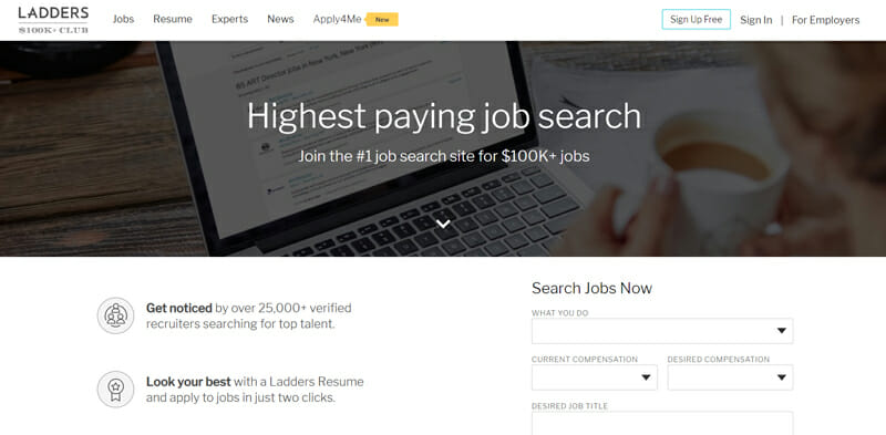 Ladders Best job board offering sales professionals in the US freelance opportunities.