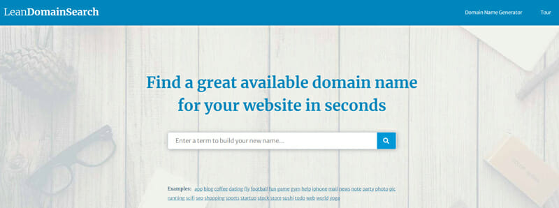 LeanDomainSearch Best company name generator to get an unforgettable business name for your startup.