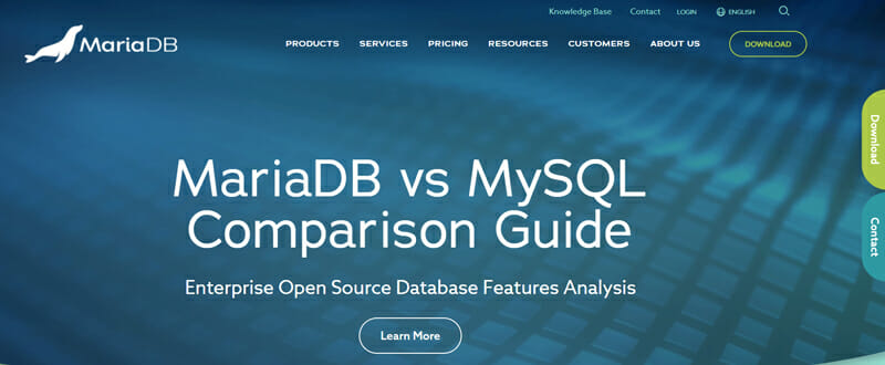 MariaDB Open Source Premise and Cloud based solution built on MySQL.