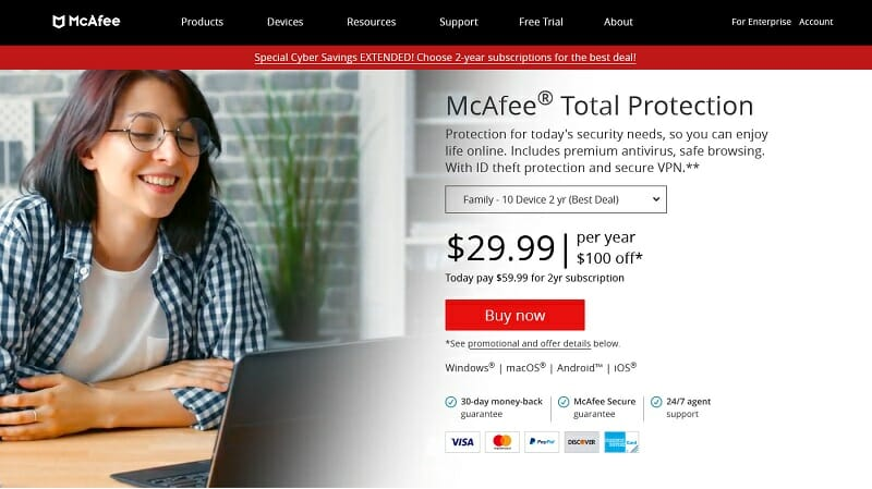 McAfee - Total Protection Pricing