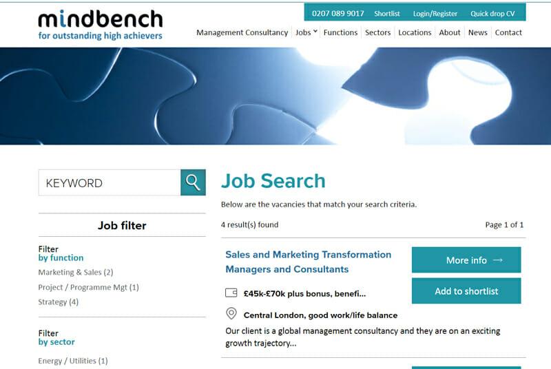 Mindbench Best freelance job board for management consultants to find freelance work.