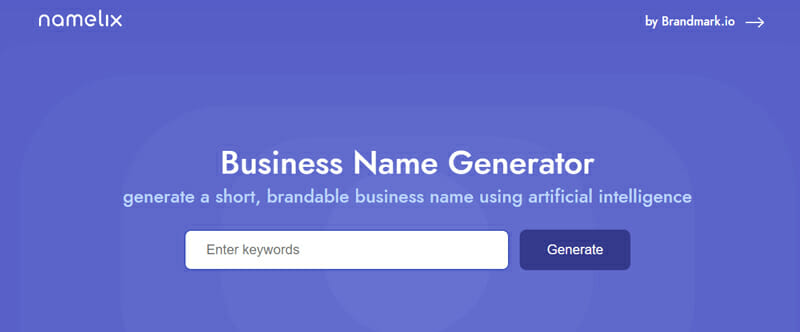 Namelix Best business name checker to find an ultra specific name for your startup.