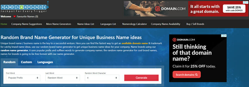 Names4brands Best business name generator to get interesting company name suggestions-for-your-small-business.