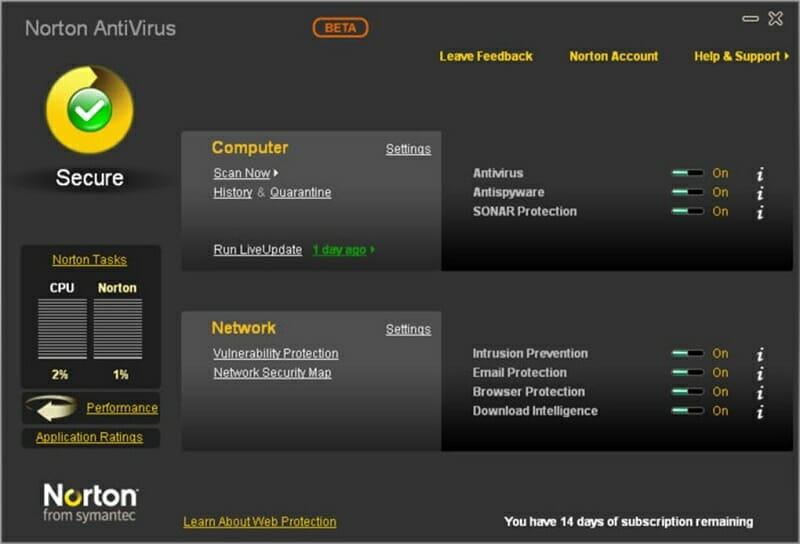 Norton AntiVirus virus protection promise
