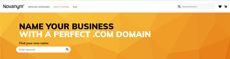 Novanym Best business name finder to come up with the perfect name for your company.