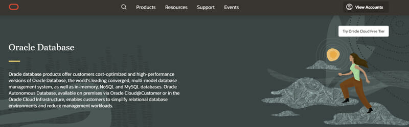 Oracle RDBMS A Reliable Cloud Based Relational Database Management Solution for Large Businesses.