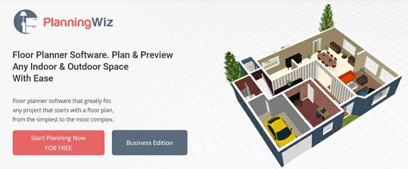 PlanningWiz Floor Planner #1 2D & 3D Free Floor Plan Software for Indoor and Outdoor Spaces.