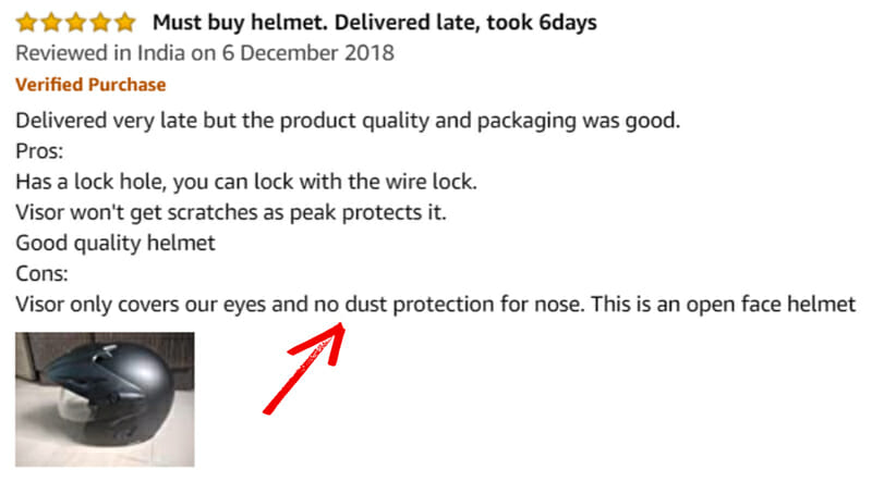 Product review of amazon