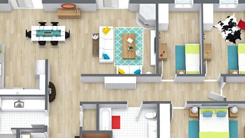 Room designs on Roomsketcher