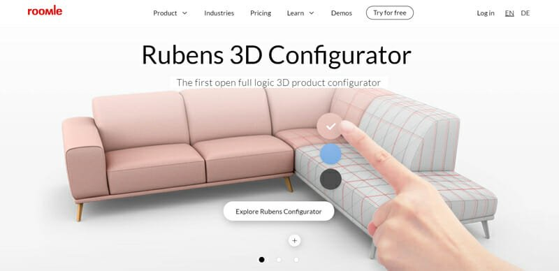 Roomle The First Open Full Logic 3D Product Configurator.