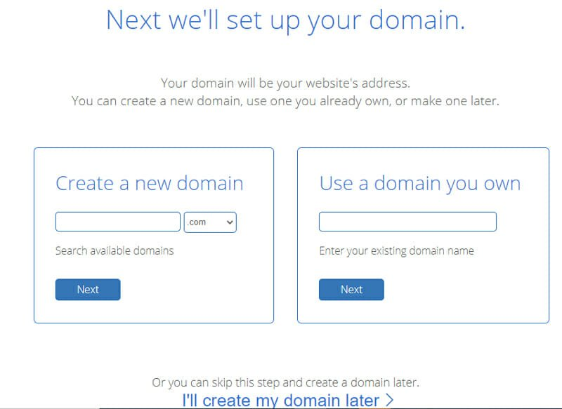 Setting up domain on bluehost