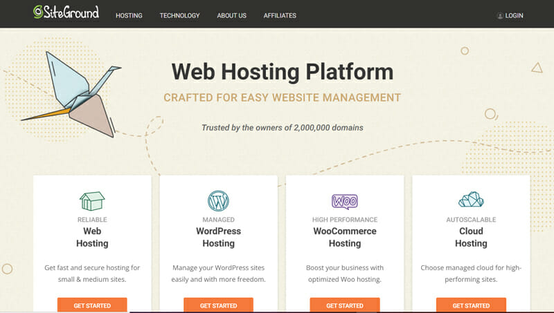 Siteground Best Bluehost alternative in terms of responsiveness, performance, and additional features.