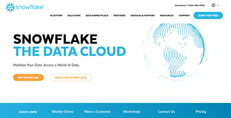 Snowflake A Cost Effective and Instantly Scalable Cloud Database for both Small and Large Businesses.