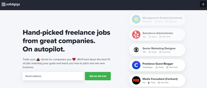 Solidgigs All round Functional Freelance Platform that Connects You with Reliable Clients Weekly.