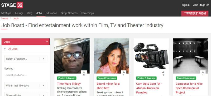 Stage 32 Best freelance job platform offering video editing jobs to freelancers.