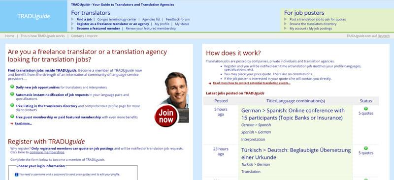 TRADUguide Best job board offering freelance-job opportunities to translators.
