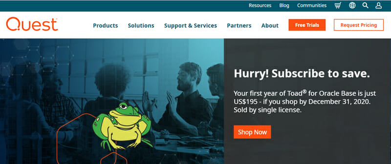 Toad SQL Database Software for Automation and Faster Data Analysis.