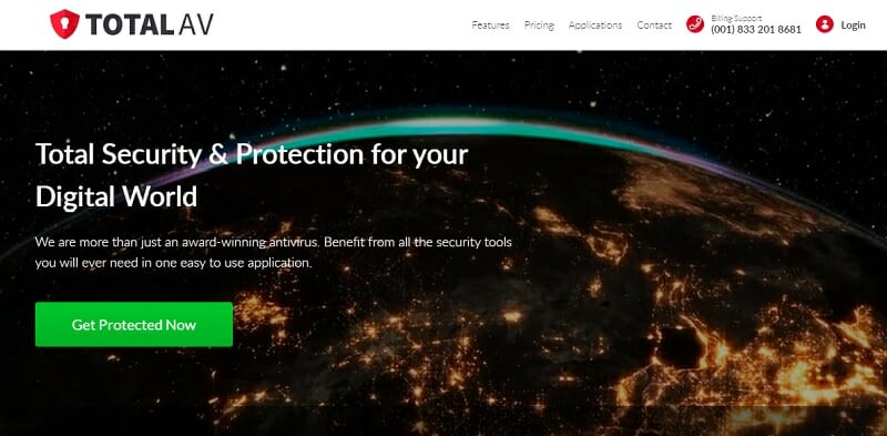 TotalAV - Hassle-Free, Advanced Real-Time Virus Protection Software.