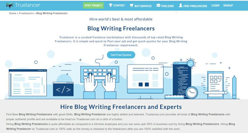 Truelancer Best freelance job board for freelance and online gigs