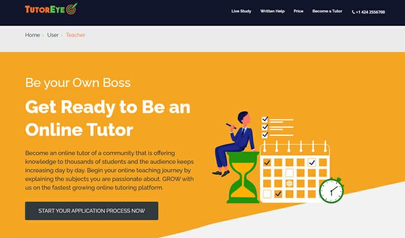 TutorEye Best online platform that matches tutors worldwide to students.