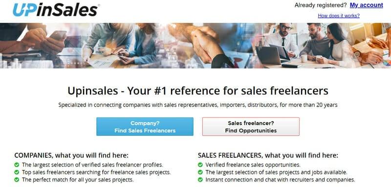 UPinSales Best online platform for freelance sales professionals to find freelance gigs.