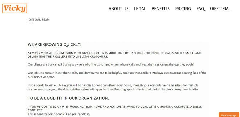 Vicky Virtual Best freelance job platform offering virtual assistant jobs.