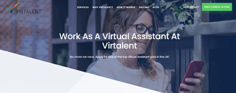 Virtalent Best freelance job platform to find virtual assistant jobs in the UK.