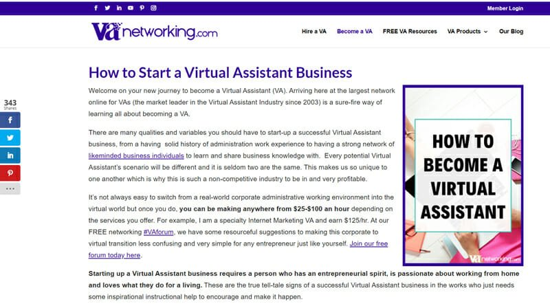 Virtual Assistant Networking Best freelance job platform for virtual assistants to network and get training.