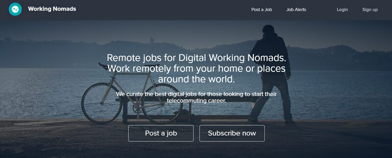 Working Nomads Best freelance job board for freelancers on the move.