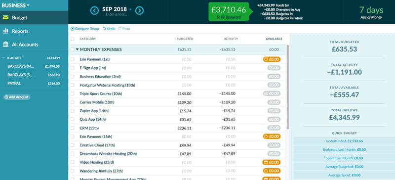 YNAB will guide and prepare you for the expenses you can't anticipate