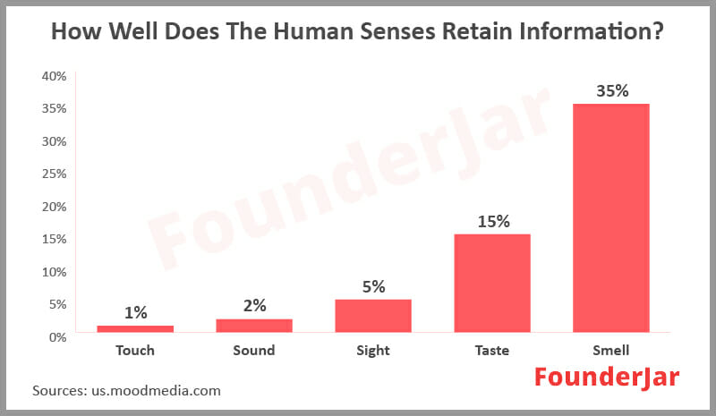 How well does the human senses retain information