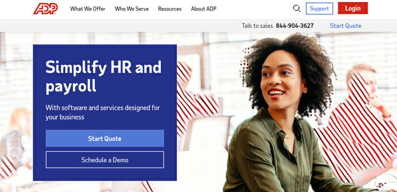 ADP Home page