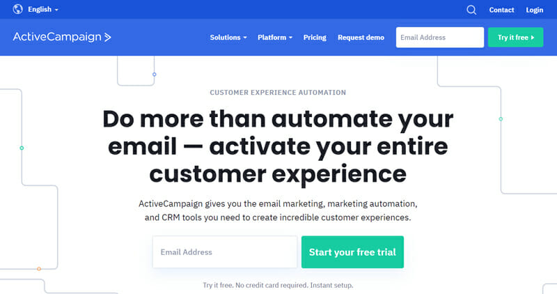 ActiveCampaign is one stop CRM solutions for email marketing services