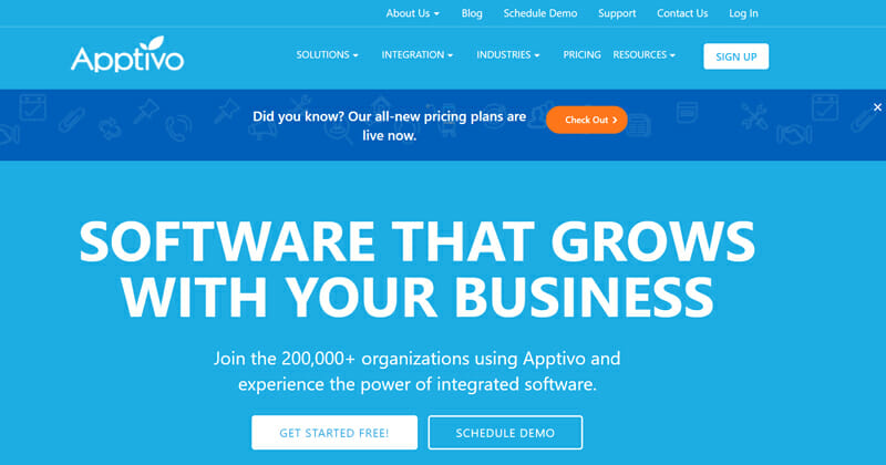 Apptivo help your business handle and build loads of client accounts