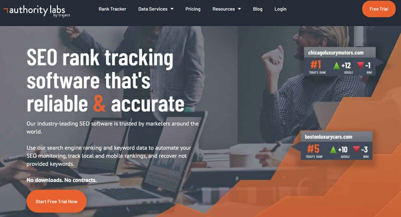 Authority Labs rank tracking and keyword research tool