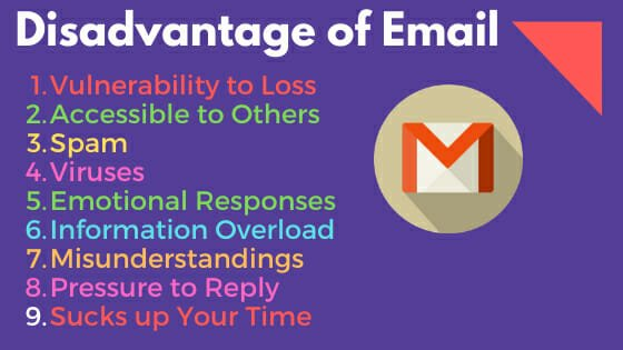 disadvantage of email