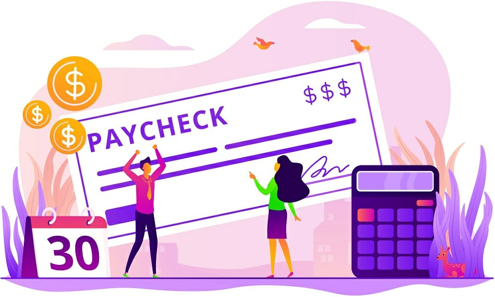 Paycheck concept vector illustration