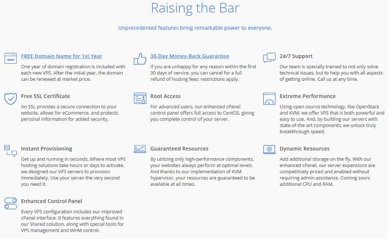Bluehost VPS Hosting - Raising the Bar