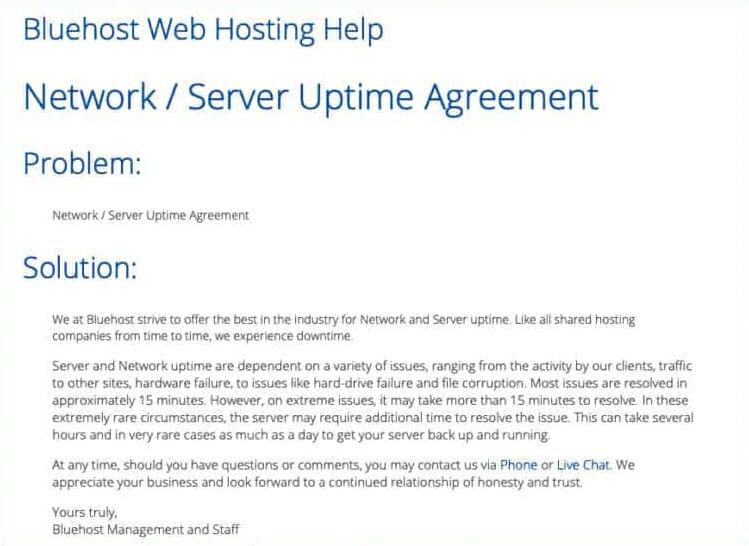 Bluehost Web Hosting Help
