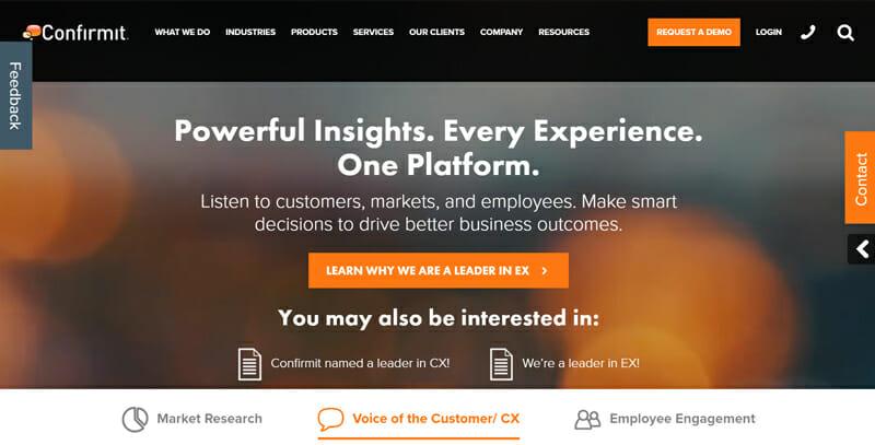 Confirmit Best Online Survey Software for Large Organizations