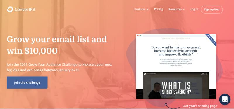 Convertkit an email marketing platform