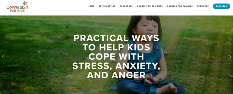Coping Skills for Kids home page