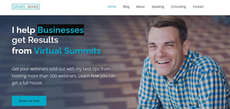 Successful webinars is Daniel Waas.