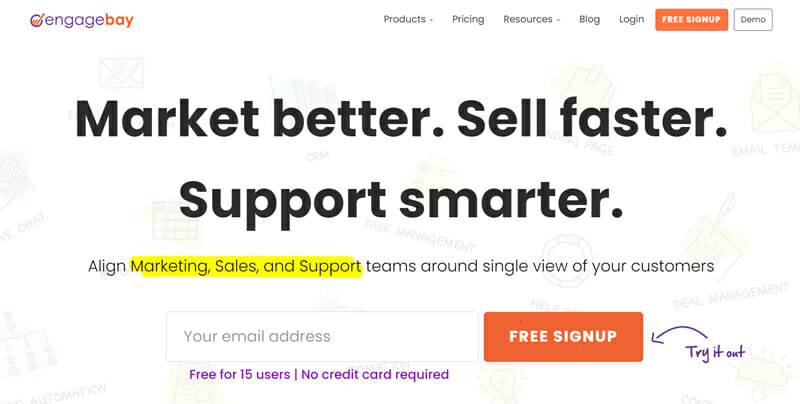 EngageBay for businesses that need affordable software to serve their customers