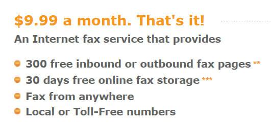 Fax.com Pricing